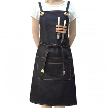 FOR US BUYER Aprons for Men and Women Adjustable Bib Aprons Unisex for Chef Kitchen Cooking Work with 3 Pockets