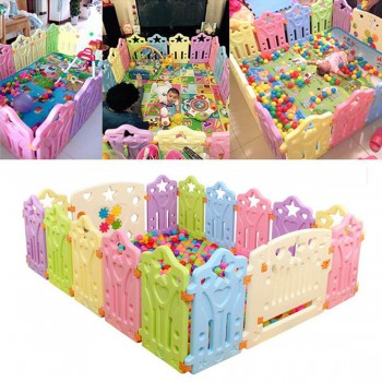 FOR CA BUYER Baby Playpen Kids Panel Play Center Yard Safety Fence Child Playard 14 Pieces