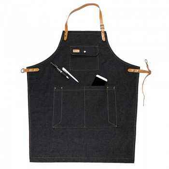 FOR US/FR BUYER r Men Women Adjustable Bibs Chef Apron With Pockets for Cooking Baking Grdening